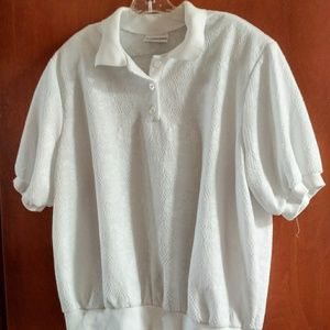 Alfred dunner sz . 2x white banded top